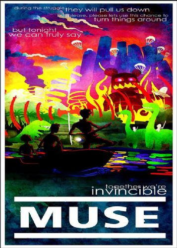 MUSE - INVINCIBLE canvas print - self adhesive poster - photo print